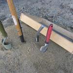 Die Werkzeuge, eigentlich Peggy's Garten-Werkzeug.