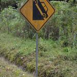 Teilweise hatten wir es wieder einmal mit steilen Strassen zu tun, wie auch die Signalisation ankündigte.