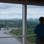 Der Aussichtspunkt im Brückenpfeiler ist der höchste, öffentlich zugängliche, meinte die Info-Tafel.
