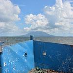 Volle Kraft voraus! Die Insel Ometepe war immer in Sichtweite.