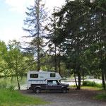 Kostenloser und begehrter Campingplatz von BC Hydro
