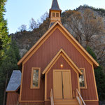 Eine kleine Kapelle mitten im Yosemite Nationalpark.