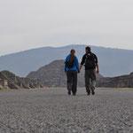 Auf dem Weg zur Mondpyramide.