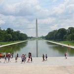 Wieder ragt das Washington Monument in den Himmel - ein guter Anhaltspunkt wenn man sich in der Stadt bewegt.