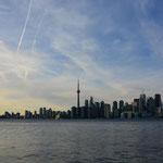 Die Skyline von Toronto.