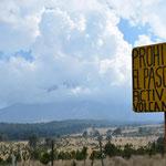 Ab hier gibt es kein Weiterkommen, El Popo ist seit vielen Jahren aktiv.