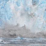 ... brechen riesige Eisstücke ab und bewegen immense Wassermassen.