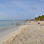 Schöne Playa Norte auf der Isla Mujeres.