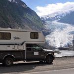 Vor dem Gletscher auf dem Weg nach Stewart.