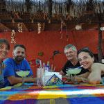 Eine Runde Margaritas mit Christine und Volker, auch das gehört dazu!