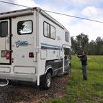 Erste richtige Camper- und Truck-Wäsche.
