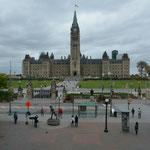 Das Parlamentsgebäude in Ottawa.