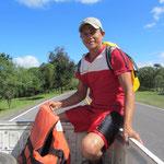 Sergio, unser Guide, organisierte die Mitfahrgelegenheit.