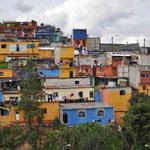 Dieses Wohngebiet in Guatemala City erinnerte uns an Guanajuato in Mexiko.