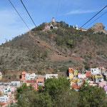 """Die Seilbahn zum """"Cerro de la Bufa""""."""