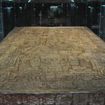 Highlight des Museums: Die Nachbildung des Sarkophags von K'inich Janaab Pakal I.