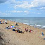 Salisbury Beach - Wir geniessen noch einmal das Strandleben, auch wenn das Wasser saukalt ist.