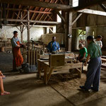 Drei Angestellte erzählten uns die Geschichte der Giesserei, das damalige Leben und den Giessprozess.
