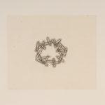 "#15         11""x8.5"" detail / 55 ft lb (torque) Screw Print Press chine collé graphite drawing"