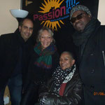 Jamal, Jacqueline Corbisier, Caron Mulongo et François Kency