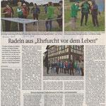 """2020 08 31 Radeln aus """"Ehrfurcht vor dem Leben"""""""