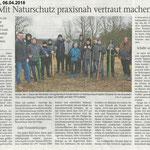 2018 04 06 Mit Naturschutz praxisnah vertraut machen