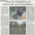 2018 02 06 Pflege der Heidefläche als Gebot, aber auch Kostenfaktor