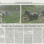 2018 01 03 Wieder im Kommen Mit Pferden ins Holz