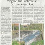 2016 04 20 Weg frei für Bachforelle. Schmerle und Co.