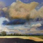 Wolken in der Marsch 50 x 60 Pastell
