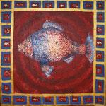 Fischkönig 100 x 100 Acryl
