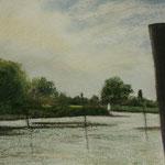 Haseldorfer Hafen 30 x 40 Pastell