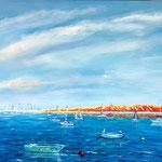 Sommertag Acryl und Öl  60 x 80