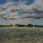 Elbe bei Blankenese 30 x 40 Pastell plein air