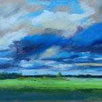 Wolkenstudie 30 x 45 Pastell