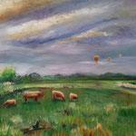 Rinder am Heister Moor Ol 40 x 60