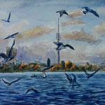 Alster Aquarell 35 x 46 cm