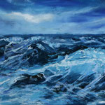 Hohe See 24 x 30  Pastell gerahmt 30 x 40