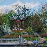 Flottbek Botanischer Garten 30 x 40 Pastell
