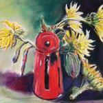Sonnenblumen Aquarell und Pastell 40 x 50
