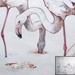 Ego und Haufen (2010) - Detailaufnahme - Leim auf Holz - 320 x 80 cm (2-teilig)