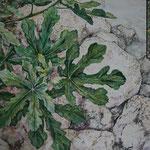 Am Ufer (2012) - Detailaufnahme - Leim auf Leinwand - 70 x 100 cm - [in privater Sammlung]
