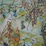 Trauben (2013) - Leim auf Leinwand - 40 x 40 cm - [in privater Sammlung]