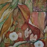 Zusammenleben (2012) - Detailaufnahme - Leim auf Leinwand - 60 x 100 cm (2-teilig) -  [in privater Sammlung]