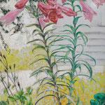 Omas Garten (2011) - Leim auf Leinwand - 50 x 100 cm -  [in privater Sammlung]