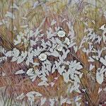 Herbstroggen (2011) - Leim/Silber auf Leinwand - 180 x 80 com (3-teilig) - [in privater Sammlung]