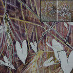 Herbstroggen (2011) - Detailaufnahme - Leim auf Leinwand - 180 x 80 com (3-teilig) - [in privater Sammlung]