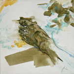 Fuß (2013) - Leim auf Leinwand - 30 x 30 cm