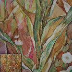 Zusammenleben (2012) - Detailaufnahme - Leim auf Leinwand  60 x 100 cm (2-teilig) -  [in privater Sammlung]
