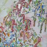 Fuchsschwanz (2013) - Leim auf Leinwand - 60 x 80 cm - [in privater Sammlung]